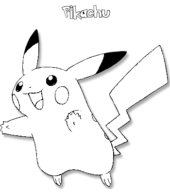 Coloriages Pikachu 25 on pokemon coloring pages