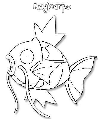 Coloriage de Magicarpe