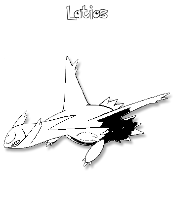 Coloriage de Latios