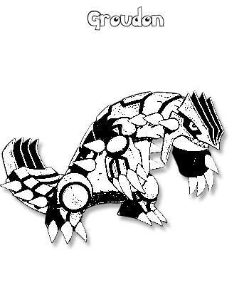 Coloriage de Groudon