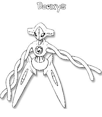 Pokemon coloring pages deoxys ~ COLORIAGE DEOXYS