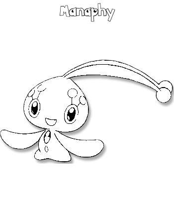 Coloriage de Manaphy